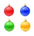 set isolated realistic christmas balls vector image