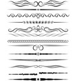 set of ornamental borders and vintage page vector image