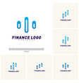 set of stats financial advisors logo design vector image