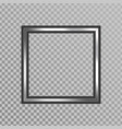 silver shiny frame vector image vector image