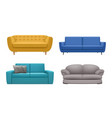 sofa realistic modern furniture for relax time vector image vector image