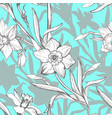 spring botanical seamless pattern with silhouettes vector image
