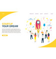 startup website landing page design vector image
