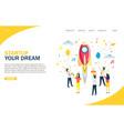 startup website landing page design vector image vector image