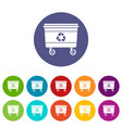 street waste icon simple style vector image vector image
