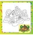 Stylized countryside house vector image vector image