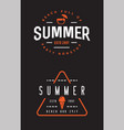 summer retro logo template for banner poster flyer vector image vector image