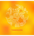 Thin Line Thanksgiving Dinner Holiday Icons Set vector image vector image