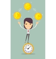 Time is money concept background vector image