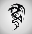 Tribal Dragon Tattoo Design vector image vector image