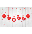 valentines decorative hearts vector image