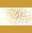 verona italy city map in retro style in golden vector image vector image