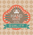 Vintage label Style with Design Element vector image