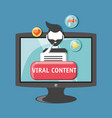 viral content design vector image