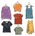 Women fashion t shirt collection set vector image vector image