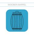 wooden barrel for beer water and beverages flat vector image vector image