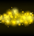 Blurred yellow light lens gold bokeh background vector image