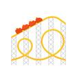 roller coastericon for web vector image