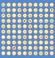 100 vehicle icons set cartoon vector image vector image