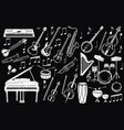 a set of musical instruments collection vector image