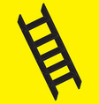 a silhouette stepladder vector image vector image