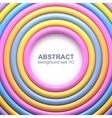 Abstract background with colorful glossy rings vector image vector image