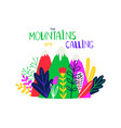 abstract colored mountain t-shirt design vector image vector image