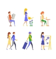 Active People Lifestyle Healthy Life vector image
