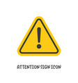 attention sign icon simple flat style vector image