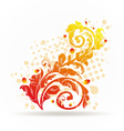 Autumnal ornamental colorful design elements vector image vector image
