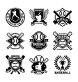 Baseball Badges vector image vector image