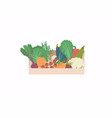 basket with a seasonal harvest bright colorful vector image