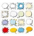 Big Set of Comics Bubbles in Pop Art Style vector image vector image