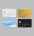 black white gold and blue wave bank card blank vector image