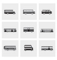 bus icons set public transportation neutral color vector image