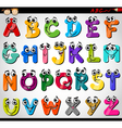 Capital letters alphabet cartoon
