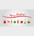 cartoon christmas objects for ad poster vector image