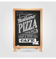 Chalk drawings Menu Pizza Retro typography vector image