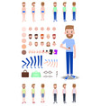 character construction set vector image