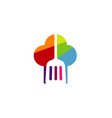 chef colorful hat baking logo vector image