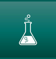 chemical test tube pictogram icon chemical lab vector image vector image