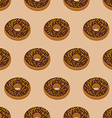 Chocolate Donuts seamless pattern Desserts food