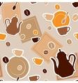 Coffee seamless vector image vector image