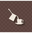 coffee turk and cup on seamless background vector image vector image