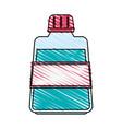 color crayon stripe cartoon mouthwash for dental vector image vector image