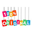 colorful hanging cardboard tags - 100 vector image vector image