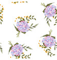 colorful spring seamless wallpaper with hydrangea vector image vector image