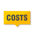 costs price tag vector image vector image