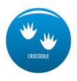 crocodile step icon blue vector image vector image
