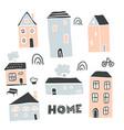 decorative houses collection scandinavian city vector image